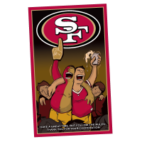 49ers Sitdown Illustration Design