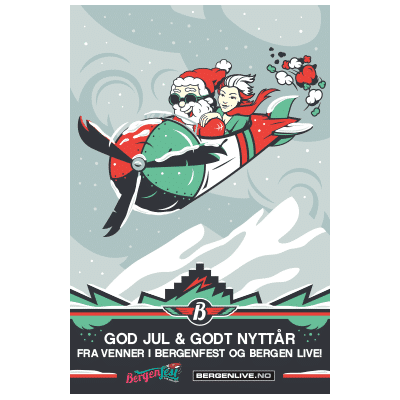Bergenfest Christmas Illustration Design