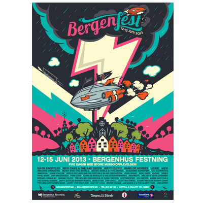 Bergenfest Poster 2013 Illustration Design