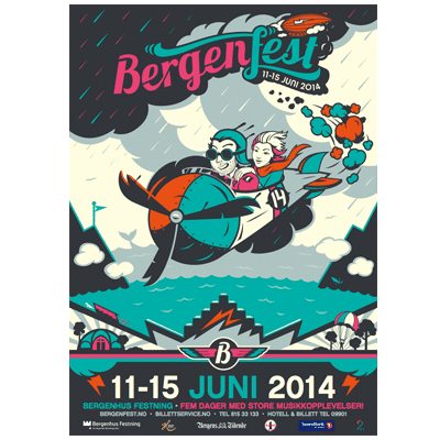 Bergenfest Poster 2014 Illustration Design