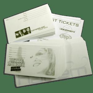 Custom Ticket Envelopes