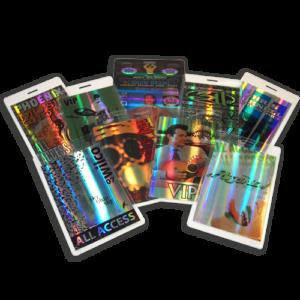Custom Holographic Laminate Passes