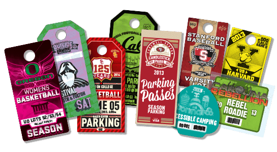 Custom Parking Passes Credentials