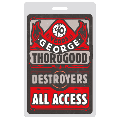 George Thorogood 40 Years Illustration Design